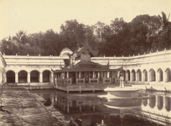 The Queen's Bath, in the garden of the Palace, [Mandalay]